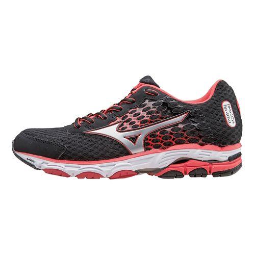 Womens Mizuno Wave Inspire 11 Running Shoe - Black/Cayenne 7