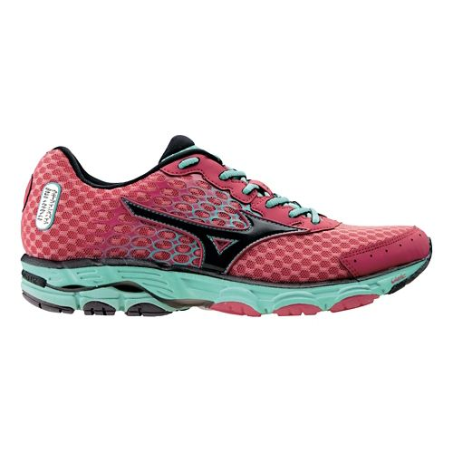 Womens Mizuno Wave Inspire 11 Running Shoe - Pink/Florida Keys 8.5