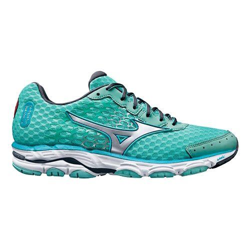 Womens Mizuno Wave Inspire 11 Running Shoe - White/Turbulence 6.5