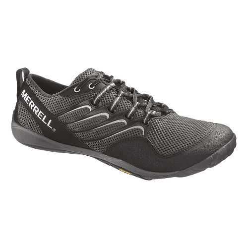 Mens Merrell Trail Glove Trail Running Shoe - Black/Grey 9