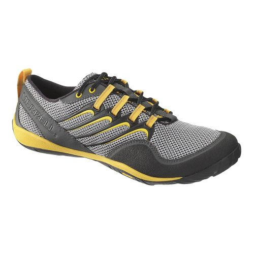 Mens Merrell Trail Glove Trail Running Shoe - Charcoal/Gold 10