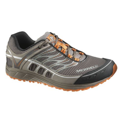 Mens Merrell Mix Master Tuff Trail Running Shoe - Boulder/Brindle 12