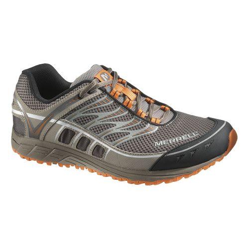 Mens Merrell Mix Master Tuff Trail Running Shoe - Boulder/Brindle 15