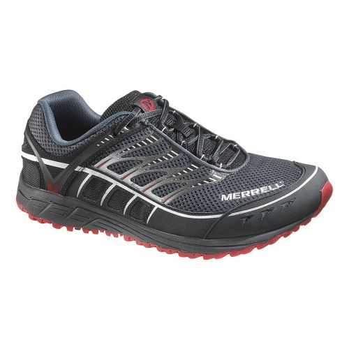 Mens Merrell Mix Master Tuff Trail Running Shoe - Black/Red 7