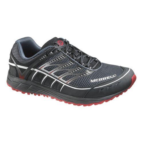 Mens Merrell Mix Master Tuff Trail Running Shoe - Black/Red 7
