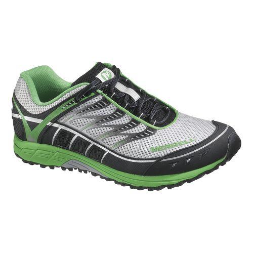 Mens Merrell Mix Master Tuff Trail Running Shoe - Ice/Parrot 10