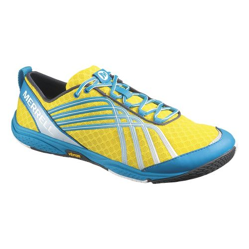 Mens Merrell Road Glove 2 Running Shoe - Lemon/Racer 10.5