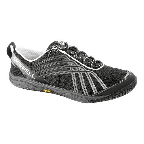 Womens Merrell Road Glove Dash 2 Running Shoe - Black/Silver 8.5