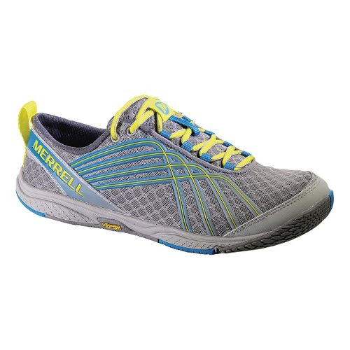 Womens Merrell Road Glove Dash 2 Running Shoe - Grey/Blue 5