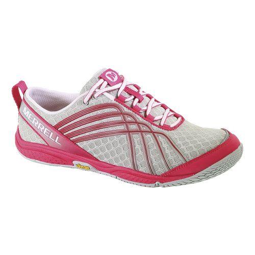 Womens Merrell Road Glove Dash 2 Running Shoe - Grey/Pink 9