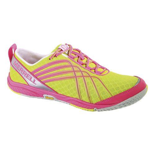 Womens Merrell Road Glove Dash 2 Running Shoe - Yellow/Pink 8.5