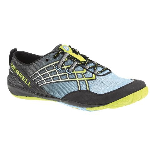 Mens Merrell Trail Glove 2 Trail Running Shoe - Black/Sky Blue 10