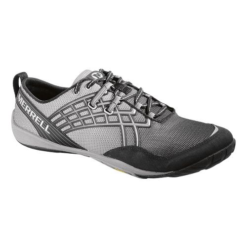 Mens Merrell Trail Glove 2 Trail Running Shoe - Black/Silver 7.5