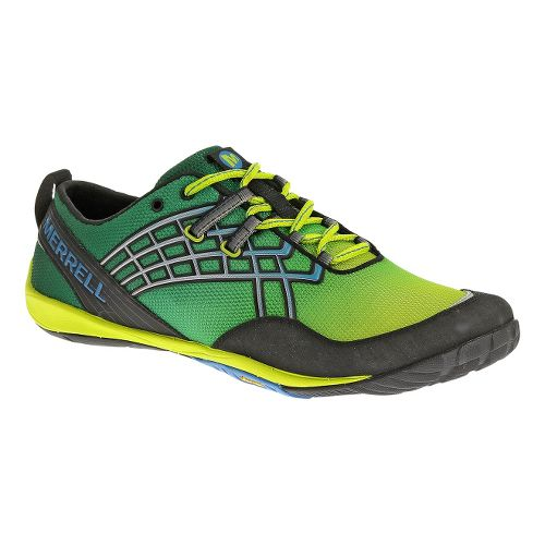 Mens Merrell Trail Glove 2 Trail Running Shoe - Green/Lime 7.5