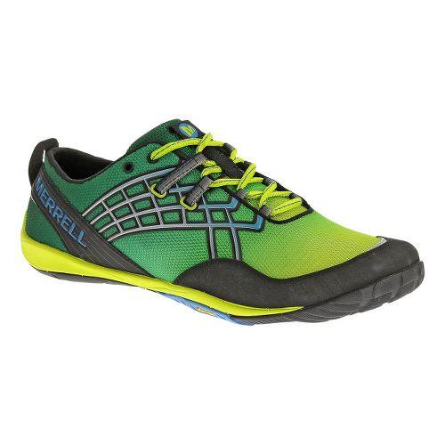 Mens Merrell Trail Glove 2 Trail Running Shoe - Green/Lime 8.5