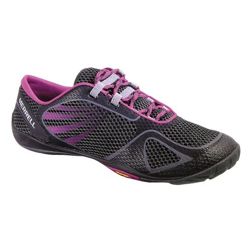 Womens Merrell Pace Glove 2 Trail Running Shoe - Black/Pink 7.5