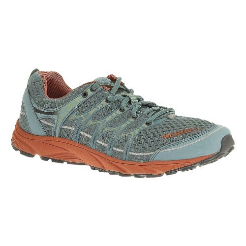 Womens Merrell Mix Master Move Glide Trail Running Shoe - Aqua Blue/Lychee 6.5