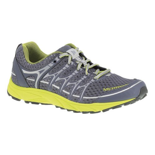 Womens Merrell Mix Master Move Glide Trail Running Shoe - Grey/High Viz 11