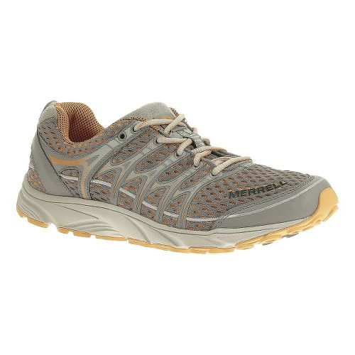 Womens Merrell Mix Master Move Glide Trail Running Shoe - Grey/Orange 5.5