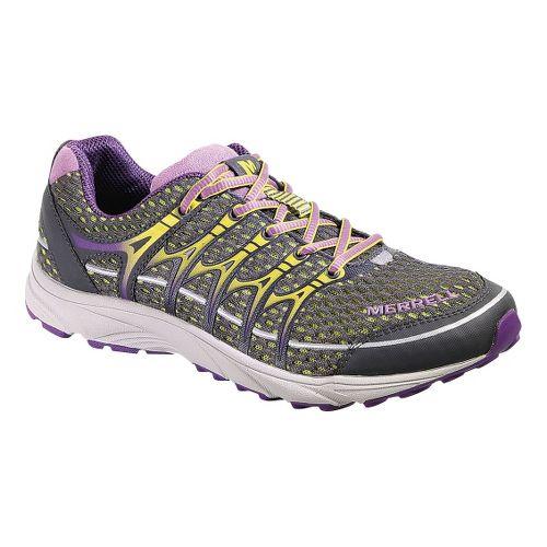 Womens Merrell Mix Master Move Glide Trail Running Shoe - Grey/Purple 8.5