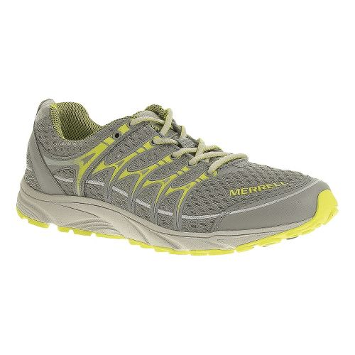 Womens Merrell Mix Master Move Glide Trail Running Shoe - Wild Dove/High Viz 9