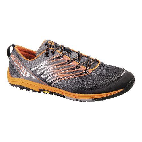 Mens Merrell Ascend Glove Trail Running Shoe - Black/Tanga 8