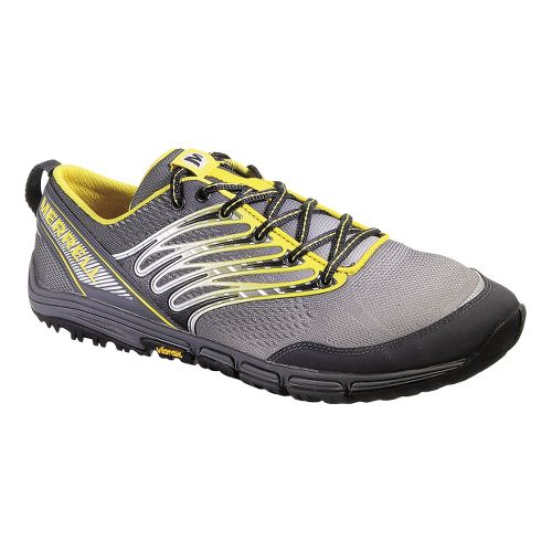 Mens Merrell Ascend Glove Trail Running Shoe - Grey/Yellow 9