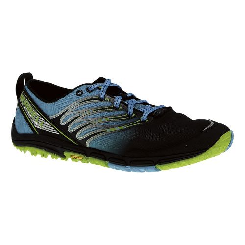 Mens Merrell Ascend Glove Trail Running Shoe - Horizon Blue/Lime 10