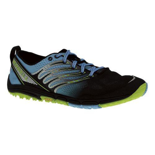 Mens Merrell Ascend Glove Trail Running Shoe - Horizon Blue/Lime 12