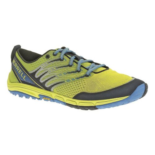 Mens Merrell Ascend Glove Trail Running Shoe - High Viz/Navy 11
