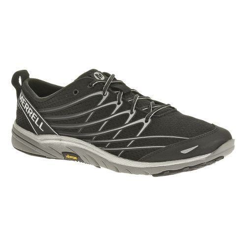 Mens Merrell Bare Access 3 Running Shoe - Black/Silver 10