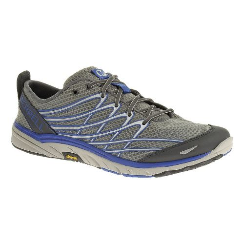 Mens Merrell Bare Access 3 Running Shoe - Castlerock/Blue 8.5