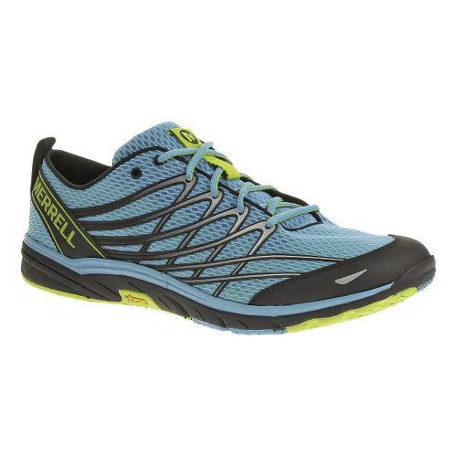 Mens Merrell Bare Access 3 Running Shoe - Horizon Blue/Lime 7.5