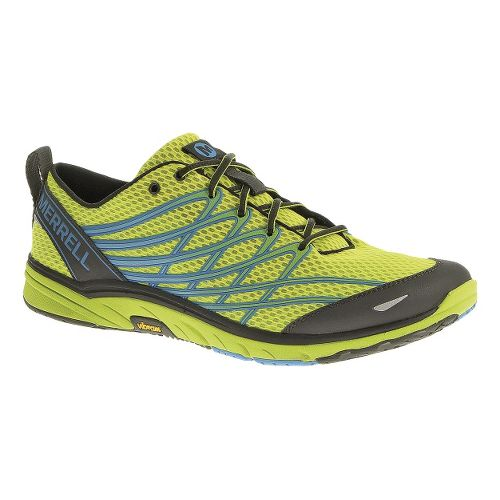 Mens Merrell Bare Access 3 Running Shoe - High Viz/Blue 12