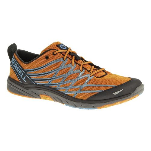 Mens Merrell Bare Access 3 Running Shoe - Orange Peel/Blue 10.5