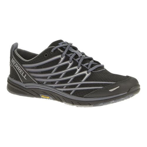 Womens Merrell Bare Access Arc 3 Running Shoe - Black/Silver 8.5