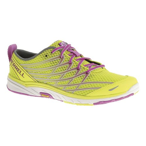 Womens Merrell Bare Access Arc 3 Running Shoe - High Viz/Purple 7.5