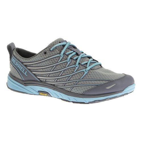 Womens Merrell Bare Access Arc 3 Running Shoe - Sleet/Scuba Blue 7