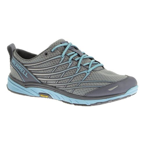 Womens Merrell Bare Access Arc 3 Running Shoe - Sleet/Scuba Blue 7.5