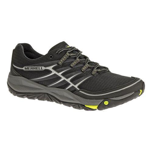 Mens Merrell AllOut Rush Trail Running Shoe - Black/Lime 9.5