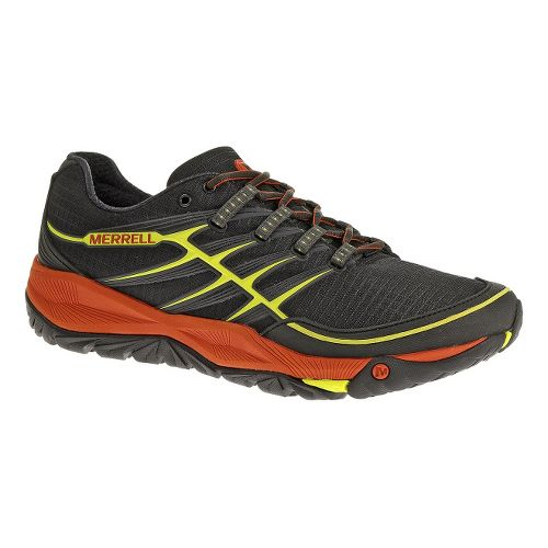 Mens Merrell AllOut Rush Trail Running Shoe - Black/Lantern 10
