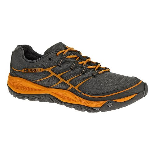 Mens Merrell AllOut Rush Trail Running Shoe - Granite/Tango 11.5