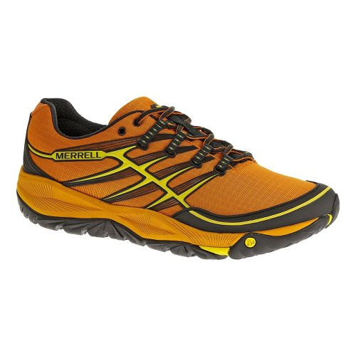 Mens Merrell AllOut Rush Trail Running Shoe - Orange Peel/Yellow 10.5