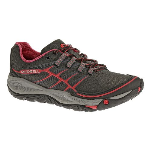 Womens Merrell AllOut Rush Trail Running Shoe - Black/Pink 10
