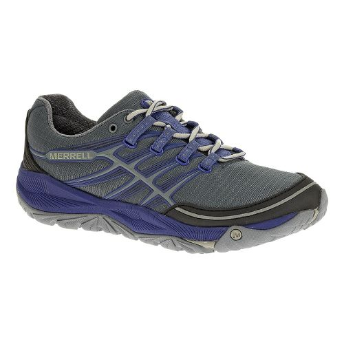 Womens Merrell AllOut Rush Trail Running Shoe - Dark Slate/Blue 10.5