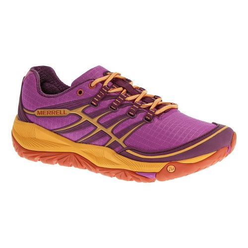 Womens Merrell AllOut Rush Trail Running Shoe - Purple/Grenadine 8.5