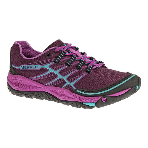 Womens Merrell AllOut Rush Trail Running Shoe - Purple/Horizon Blue 6.5