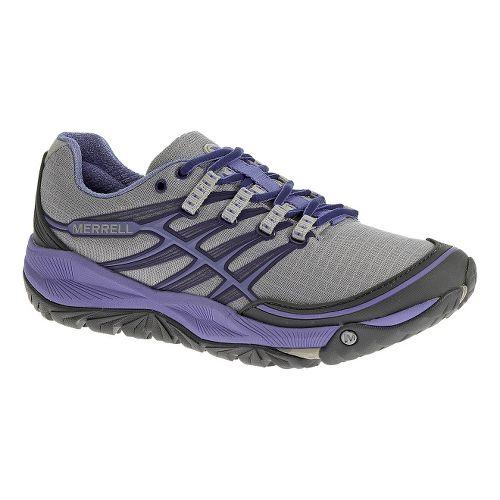Womens Merrell AllOut Rush Trail Running Shoe - Sky Blue 7.5