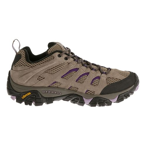 Womens Merrell Moab Ventilator Hiking Shoe - Aluminum/Marlin 5