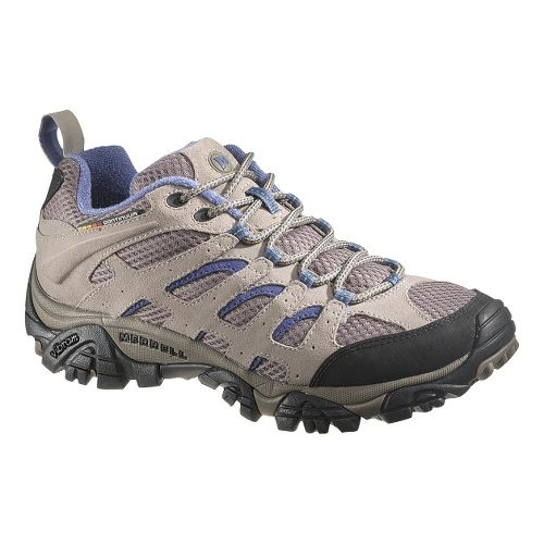 Womens Merrell Moab Ventilator Hiking Shoe - Aluminum/Marlin 10.5